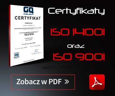 Certyfikaty ISO Tyron Producent Styropianu